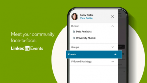 Schermata di Linkedin Events per creare una propria community