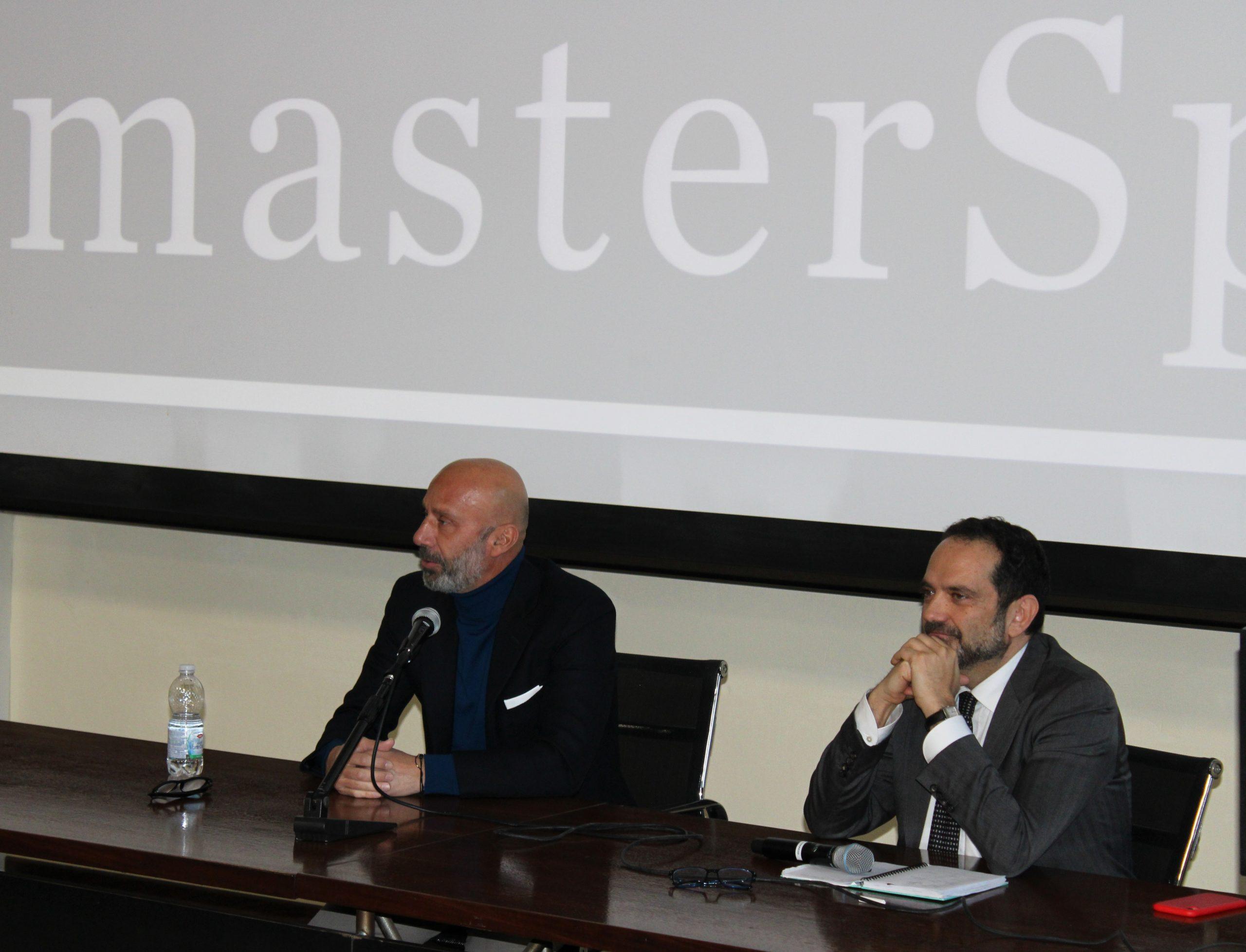 Gianluca Vialli al Dipartimento di Economia dell'Università di Parma