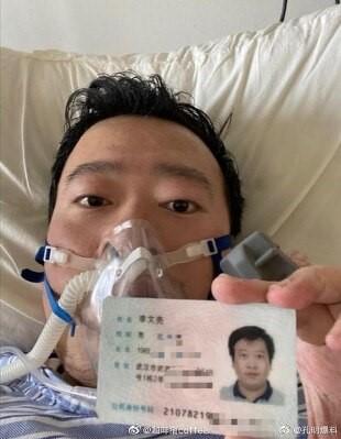 Dott. Li Wenliang in ospedale