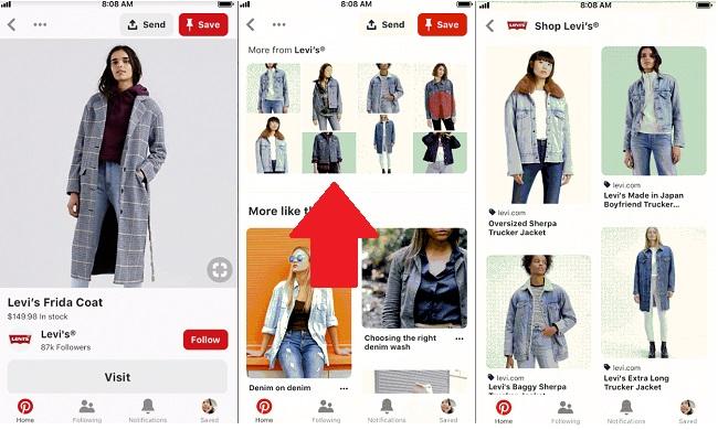 Panoramica applicazione Pinterest e le varie funzionalità