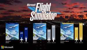 Microsoft Flight Simulator e le varie edizioni